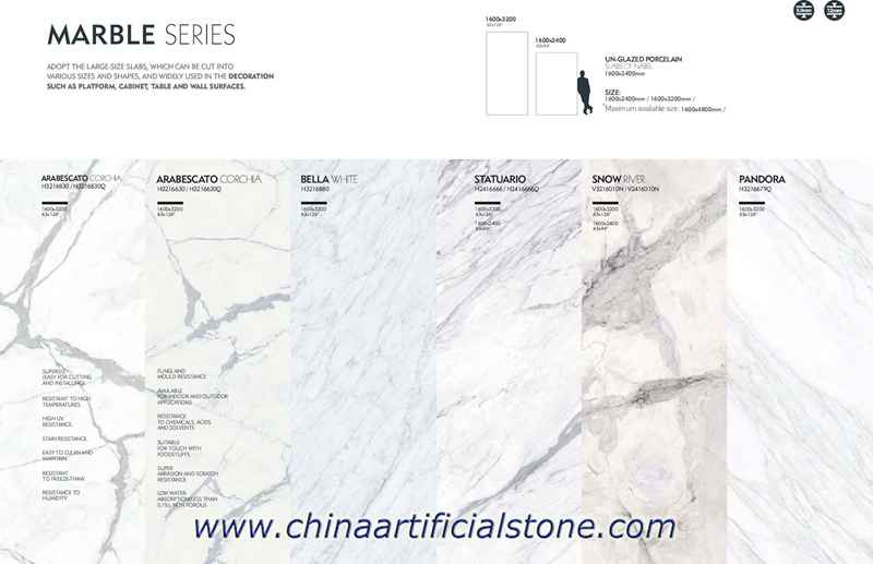 Marble looking Largest Format Porcelain Slabs