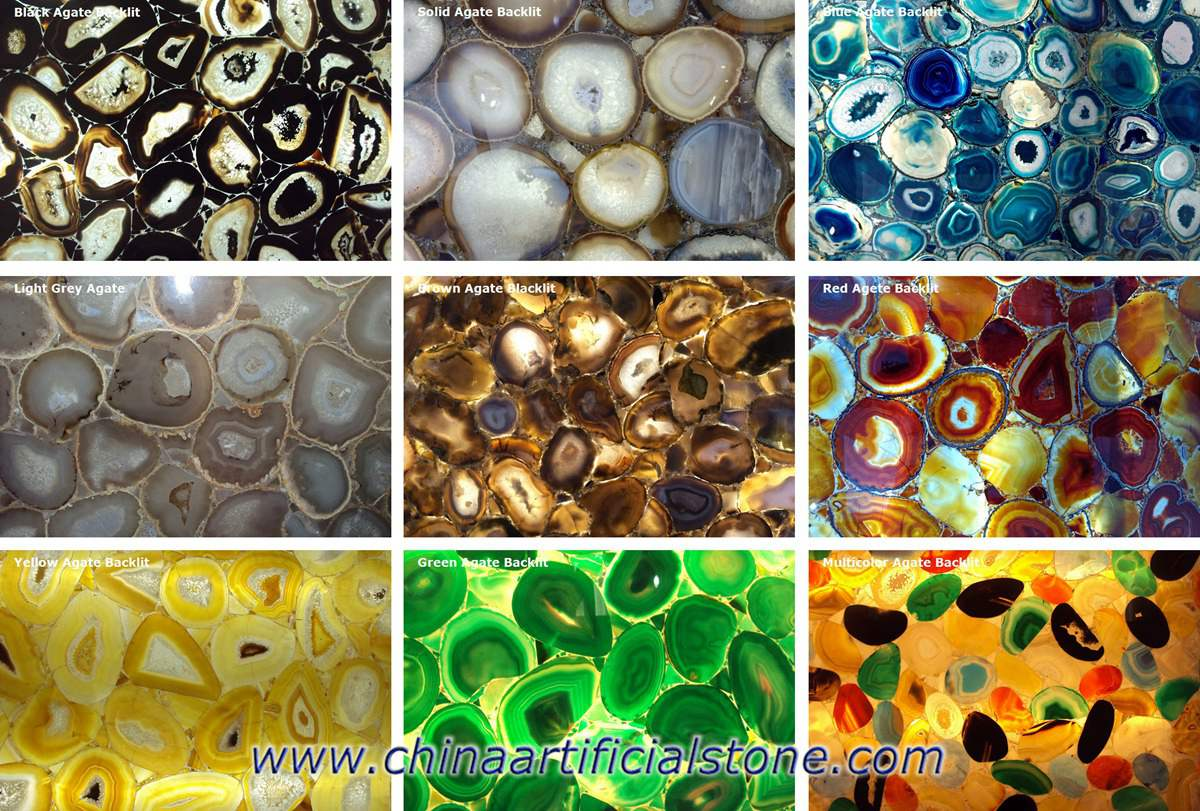 Backlit Agate Stone Colors