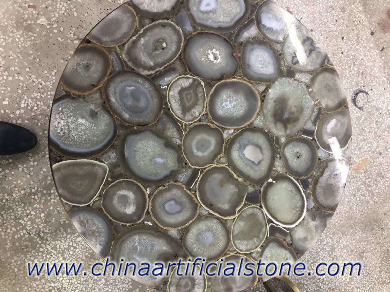 Light Grey Agate Table Tops