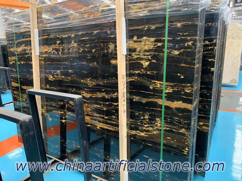 China Nero Portoro Marble Slabs