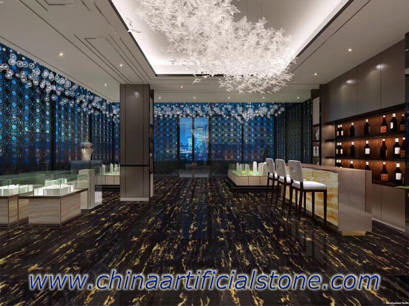 China Nero Portoro Marble Floor tiles
