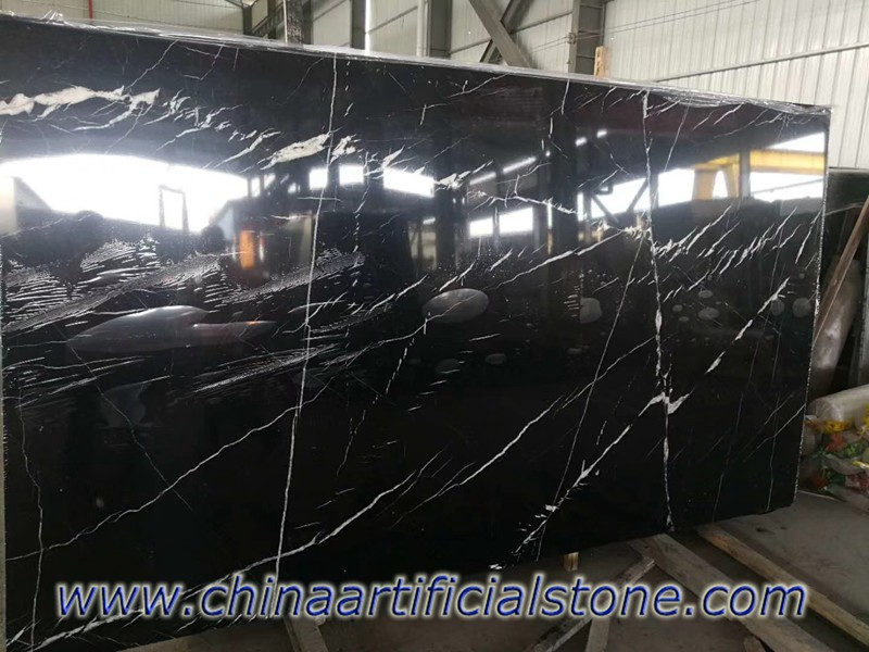 China Nero Marquina Marble with White veins