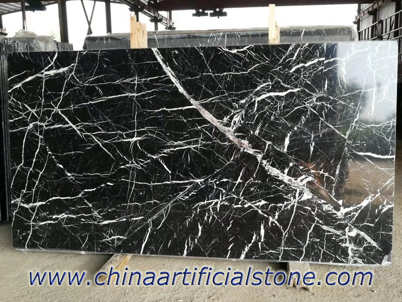 China Nero Marquina Marble with lot of White veins