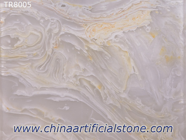 White with Gold Artificial Onyx Faux Onyx