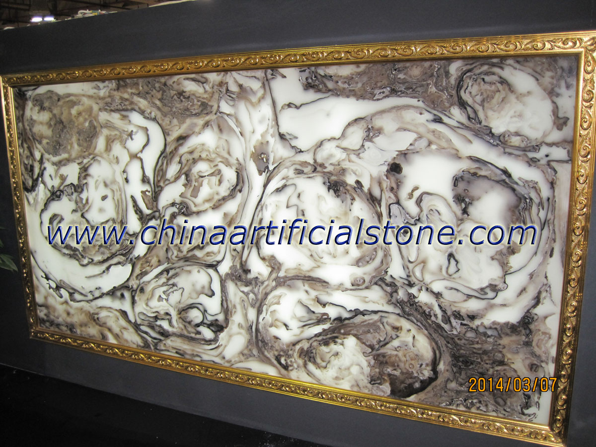 Artificial Brown Faux Onyx Panel