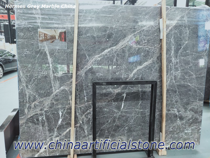 China Hermes Grey Marble Slabs