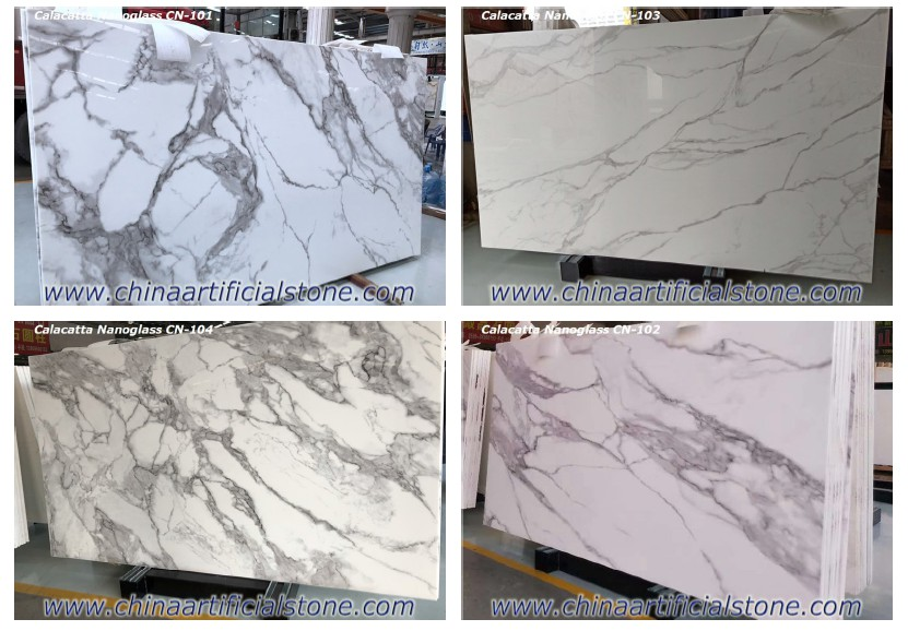 Calacatta Marble Glass slabs