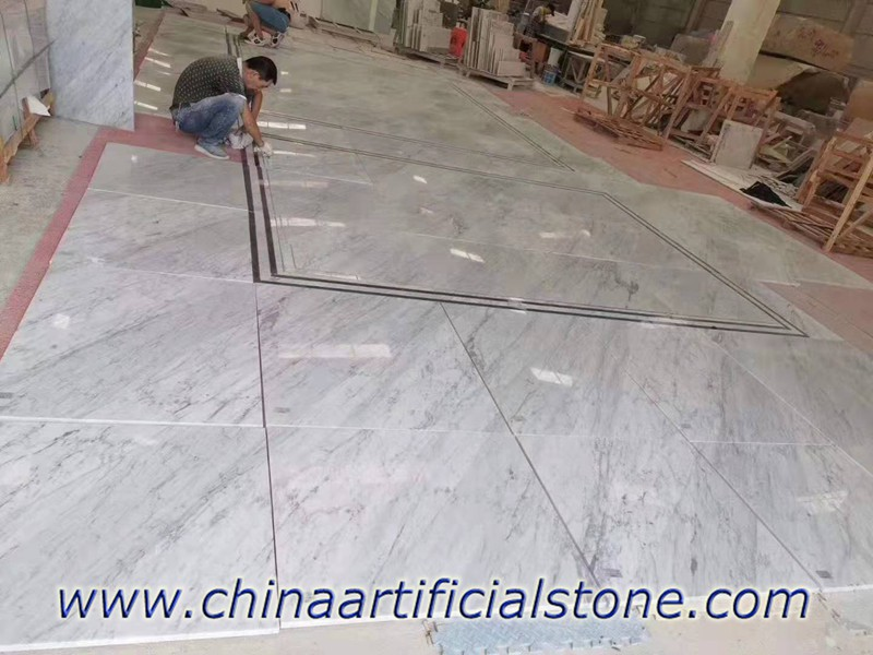 Bianco Carrara White Marble Tiles for Projects made in Shuitou