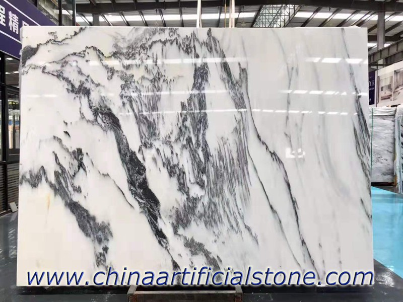 China White with Black Veins Marble