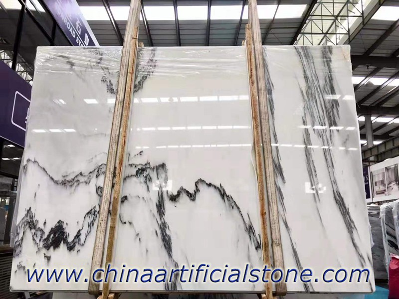 China White Ink Marble Slabs with good price