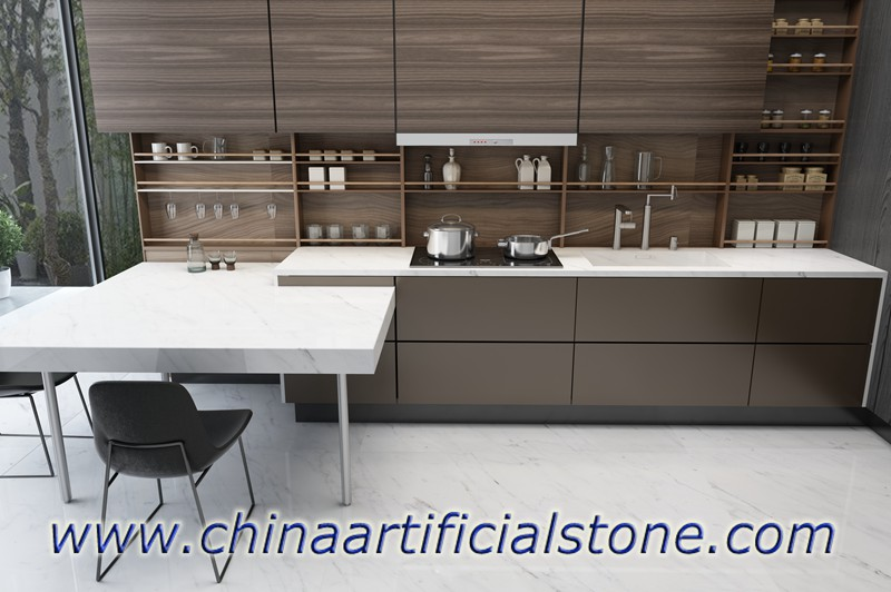 Carrara White Sintered Stone Countertops
