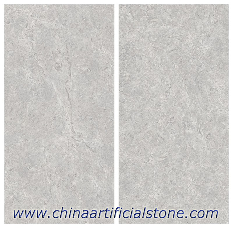 Grey Sintered Stone slabs for the countertops