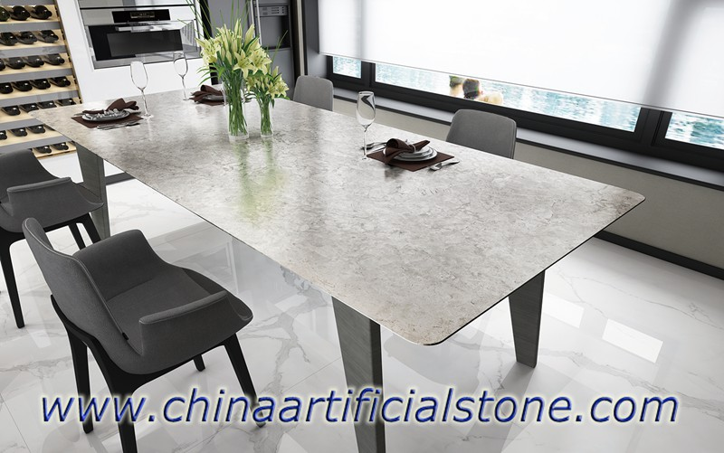 Grey Sintered Stone Table Furniture