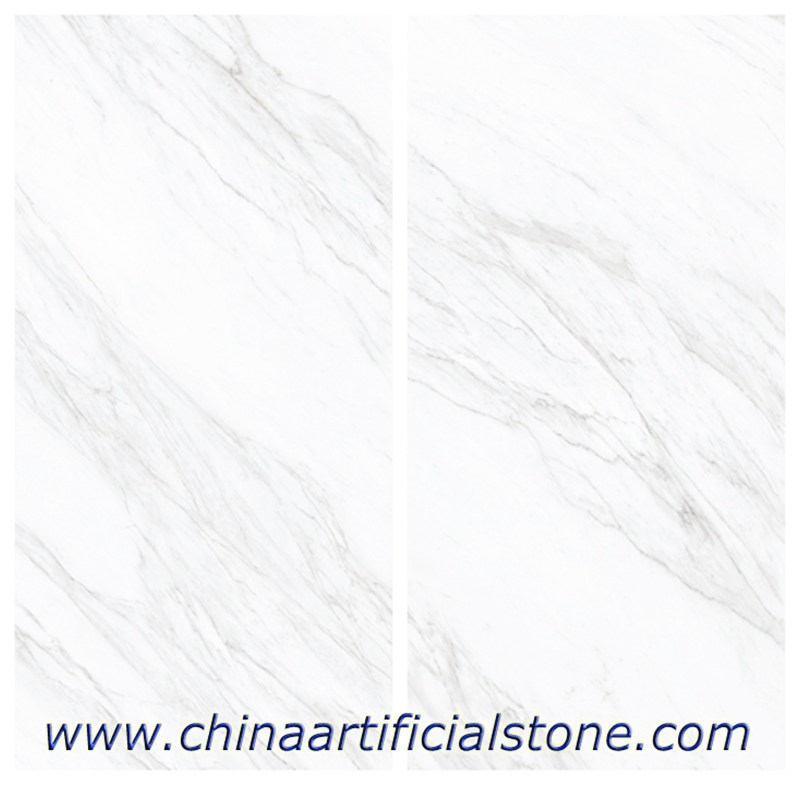White Marble Look Sintered Stone Slabs 3200x1600x5.8mm