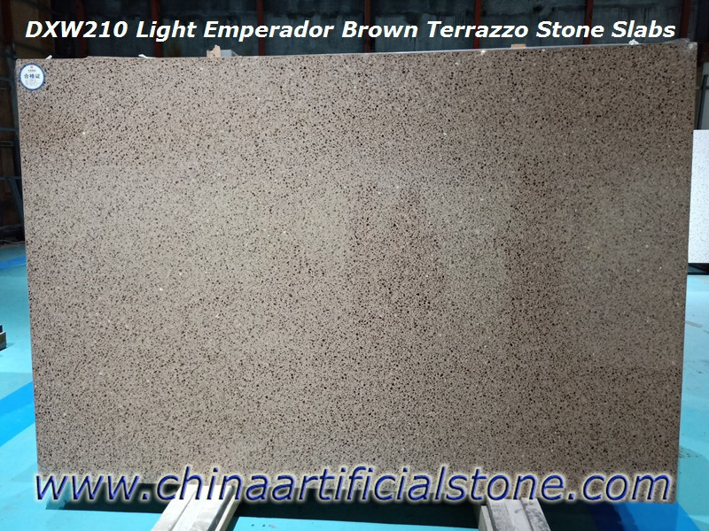 Light Brown Terrazzo Slabs