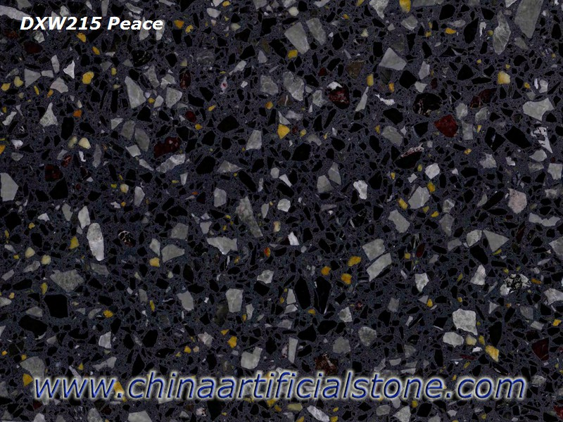 Black Terrazzo with Multicolor Particles