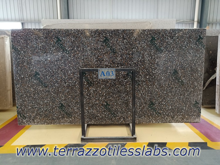 Black Multicolor Terrazzo Slabs 3200x1600mm
